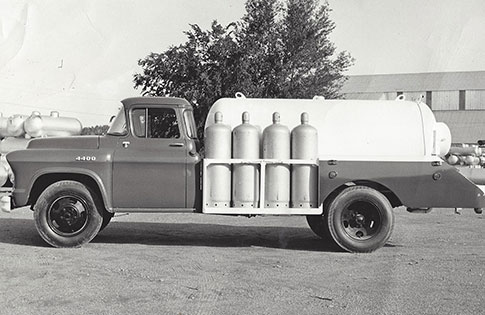 1949 propane delivery truck